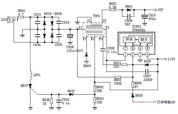 解析松下m12h开关电源电路图