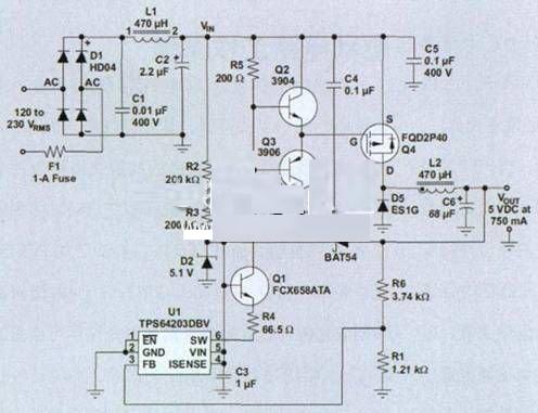 tpyc输出5v电路图
